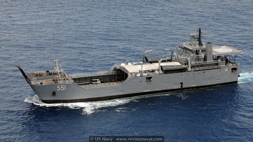 Los dos LSV de la clase Frank Besson están capacitados para transportar 150 soldados con todo su material pesado de apoyo. (Foto: US Navy)