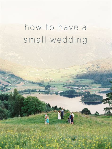 How to Have a Small Wedding   THE WEDDING PLANNER