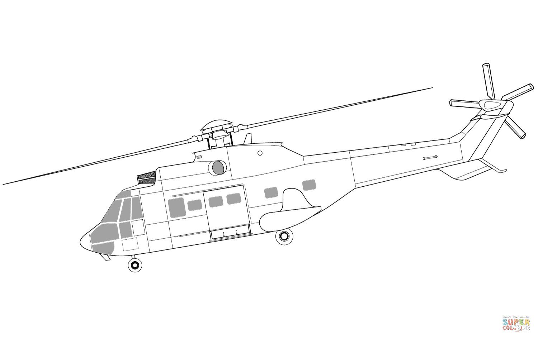 Klick das Bild Eurocopter AS332 Super Puma Hubschrauber