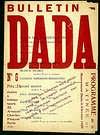 Tristan Tzara. Cubierta del Bolet�n Dadá N° 6.  1920.