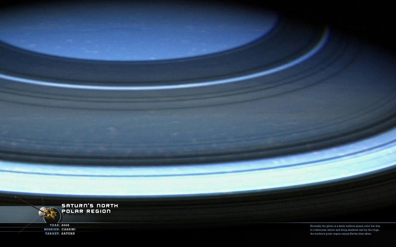Wallpaper Saturn S North Polar Region Wanderingspace
