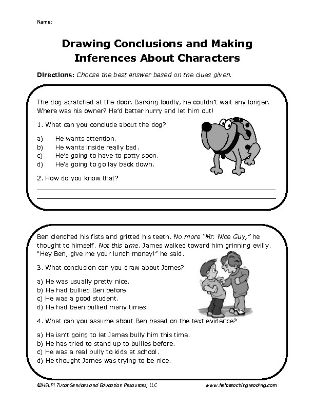 12 Best Images Of Drawing Conclusions Worksheets 5th Grade Drawing