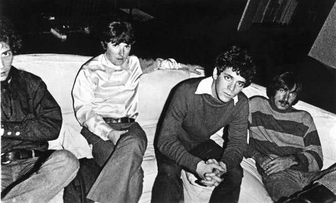 """The Velvet Underground in 1969: from left, Doug Yule, Maureen """"Moe"""" Tucker, Lou Reed, and Sterling Morrison."""