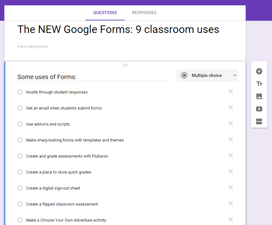 Fwd: The NEW Google Forms: 9 classroom uses -- New from Ditch That ...