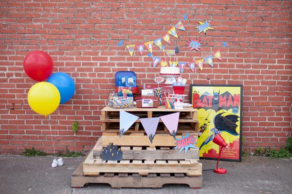 Vintage Superhero Birthday Party via Kara's Party Ideas | Kara'sPartyIdeas.com #vintage #superhero #birthday #party (25)
