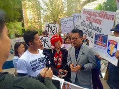samunchon blogspot: Protesting Prayuth Chan-ocha at the UN, New York on 26 September 2015 Part 3