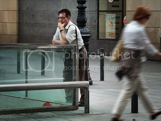 Musing in Las Ramblas, Barcelona [enlarge]