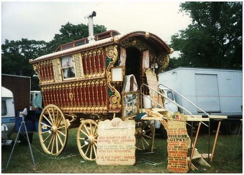 Madame Smith Caravan at the Hoppings, 1986