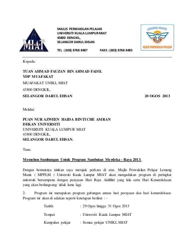 Contoh Surat Rasmi Kepada Jkkp - Downlllll