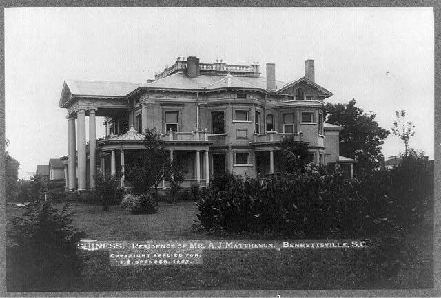 Shiness, residence of Mr. A.J. Mattheson, Bennettsville, S.C.