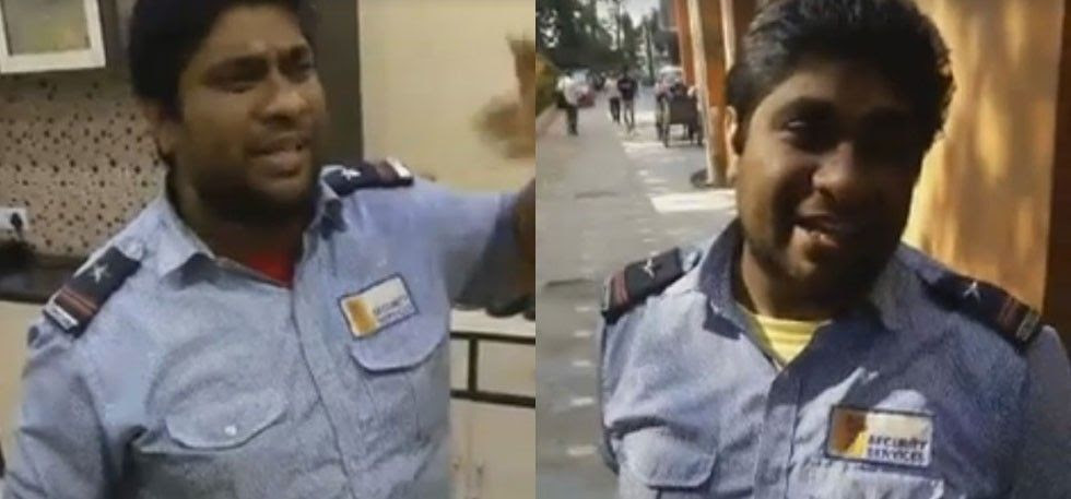 Facebook, kolkata security guard