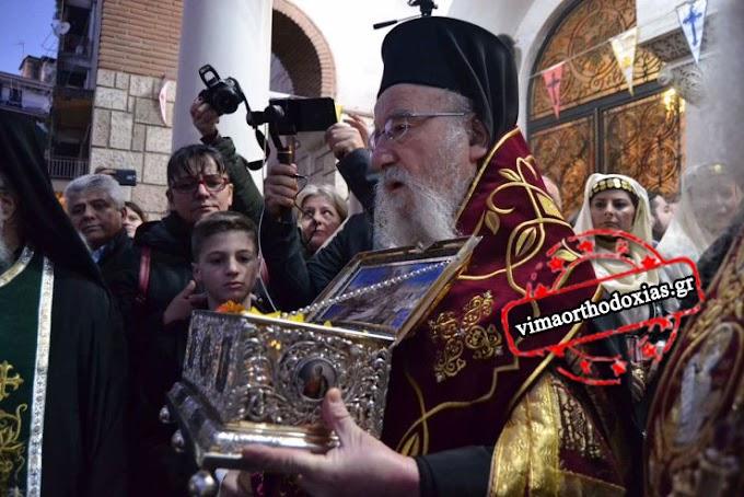 Αγρίνιο: Κλήρος και λαός υποδέχτηκαν την Τιμία Ζώνη της Παναγίας (ΒΙΝΤΕΟ & ΦΩΤΟ)