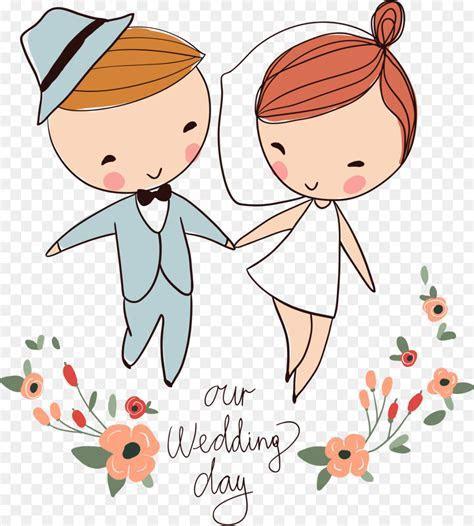 Wedding invitation Bridegroom   Cartoon Wedding Design png