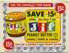 JIF Peanut Butter coupon