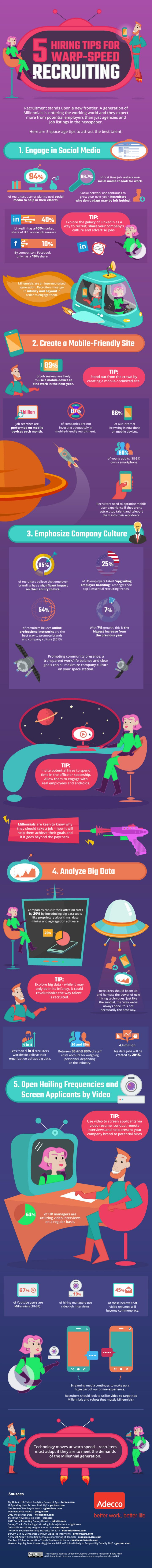 Infographic: 5 Hiring Tips for Warp-Speed Recruiting