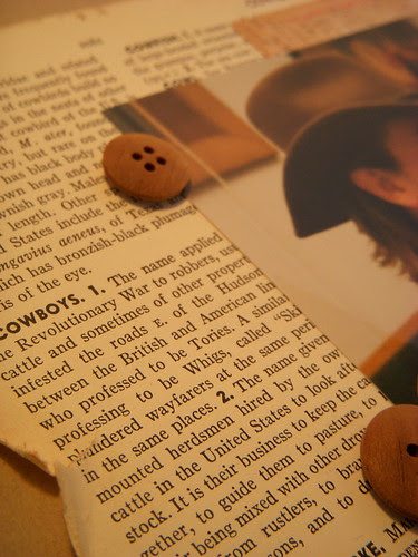 Cowboy encyclopedia page close up