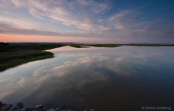 sunset in Wolfville, Nova Scotia