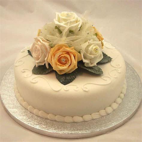 Cake Decorations   Ivory & Gold Rose Diamante Organza Cake