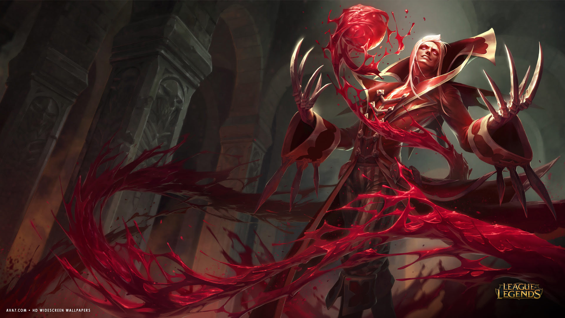 League Of Legends Game Lol Vladimir Evil Blood Red Hd Widescreen