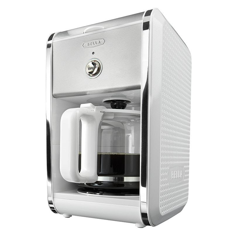 Bella Dots Collection 12-Cup Manual Coffee Maker, White