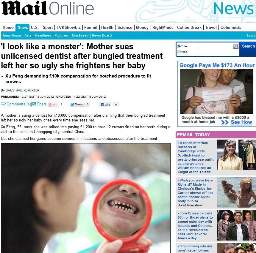Dentes (Foto: Daily Mail/Reprodução)