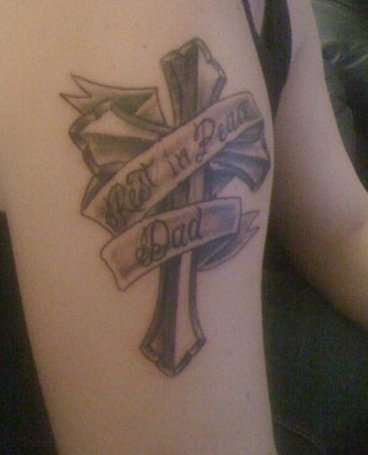Rest In Peace Dad Tattoo