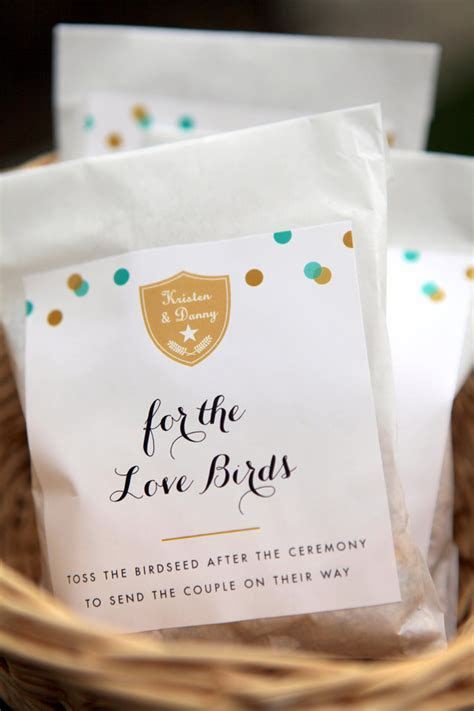 Bird Seed Wedding Favors   Wedding Inspiration