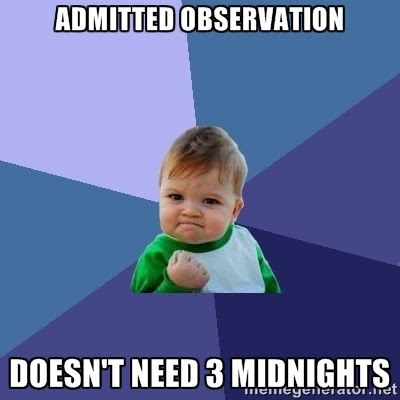 Admitted observation.  Doesn't need 3 midnights humor meme photo.