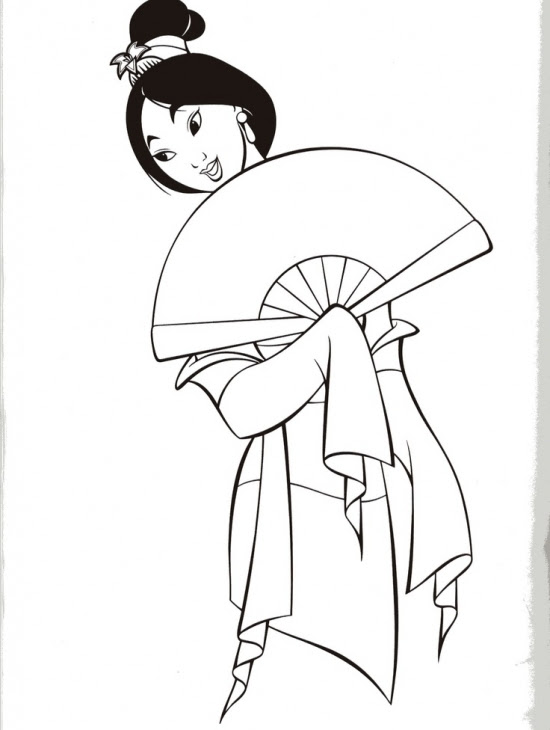 Princess Mulan Coloring Pages At Getdrawingscom Free For Personal