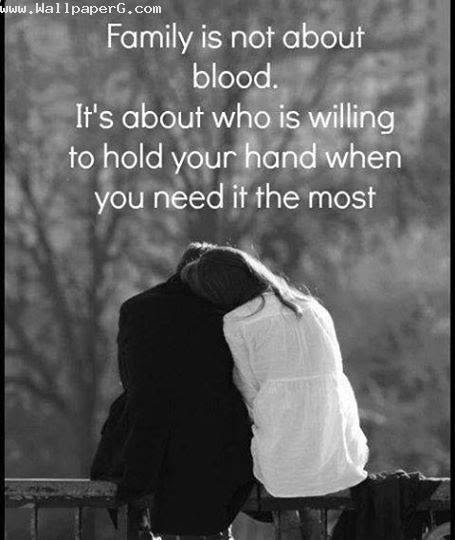 Download Family Is Not About Blood Heart Touching Love Quote For
