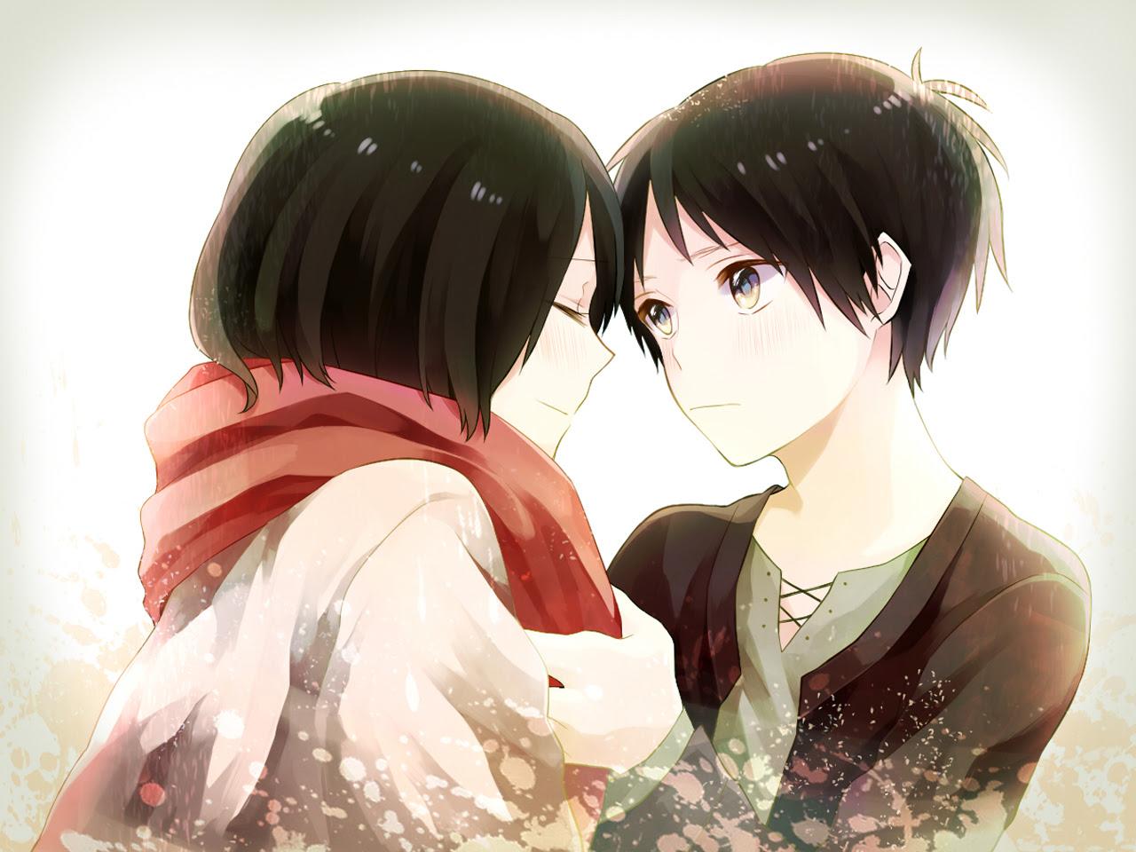 Mikasa And Eren Shingeki No Kyojin Attack On Titan Wallpaper 37707714 Fanpop