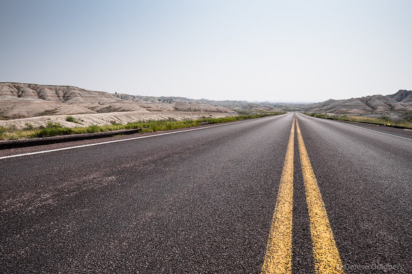 down the road, in Badlands National Park