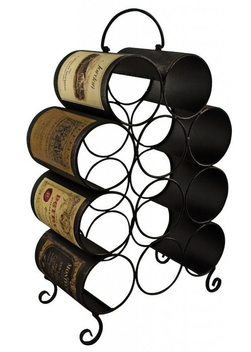 Black Sturdy Metal Wine Rack Interior Flair
