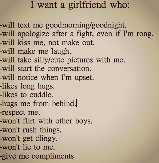 I Want A Girlfriend Who The Ex Boyfriend Tag I Want A Girlfriend