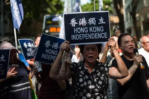 Hong Kong Independence Demonstrators