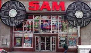 Sam The Record Man storefront: photo from http://www.wguides.com/city/89/243_42923.cfm