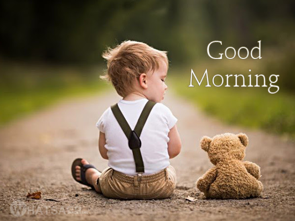 Cute Baby With Teddy Bear Good Morning Image Impfashion All News