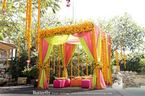 Mehndi Decoration   Butterfly Event Styling