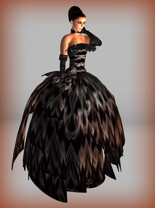 Morea Style Hunt Gift Black Gown
