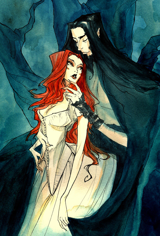 madmothmiko:  Persephone & Hades by   Abigail Larson    Beautiful pictures. Beautiful story.