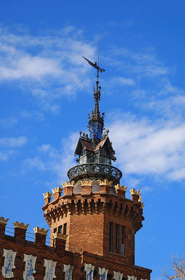 Zoological Museum of Barcelona: Modernist Tower Detail [enlarge]