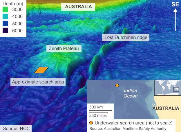 Ricerche sottomarine volo MH370 - BBC