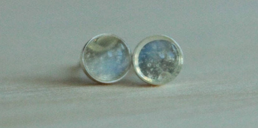 Handmade Hypoallergenic Moonstone Earrings For Sensitive Ears