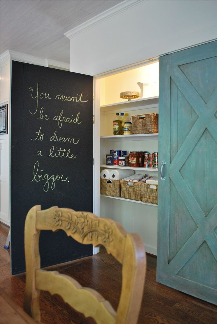 You musn't be afraid to dream a little big bigger #chalkboard #kitchendesign (Lisa Gabrielson and J. Schoenberger Design).
