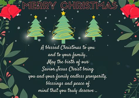A Blessed Christmas To You. Free Merry Christmas Wishes