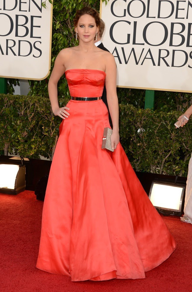 5 Jennifer Lawrence - 70th Golden Globe Awards ceremony - LA - gettyimages low res ferragamo clutch