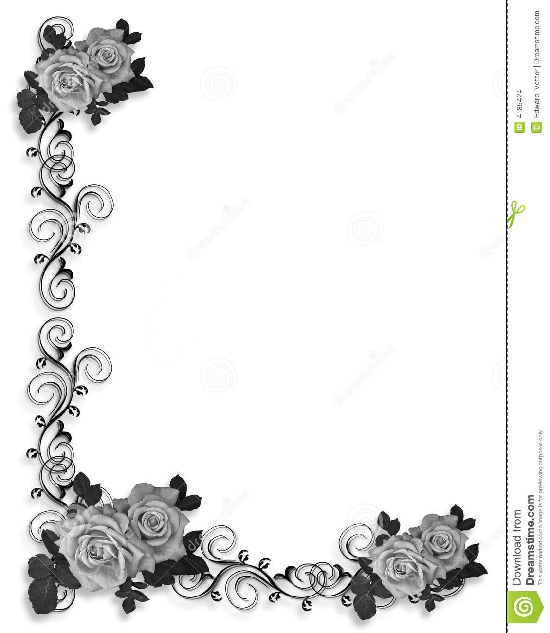 14 Black And White Border Designs Images Black And White Border