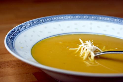 Yellow beet soup low down