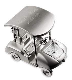 Engraved Golf Cart Clock