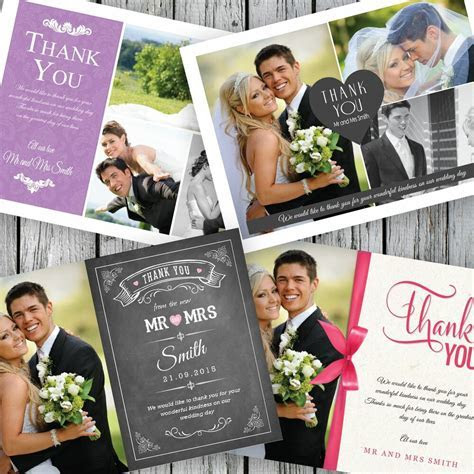 100 Personalised Wedding Thank You Cards with your photos